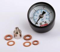 01938 Manometer D15,21.320. Rear thread M6 & Adapter M6-M5