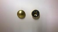 01876 4mm brass hub caps x2