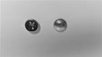 01878  5mm nickel hub caps x2